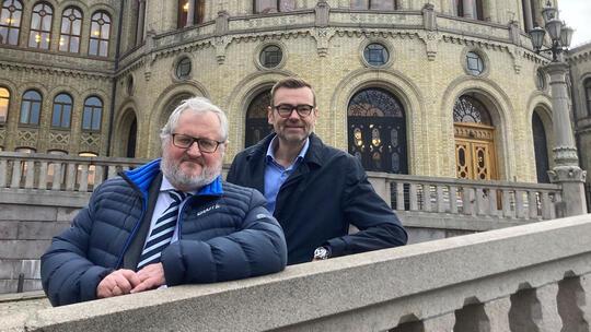 Stein Gjerding og Odd Erik Stende på komitehøring